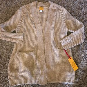 Ruby Rd sz Large NWT Chenille Tan sweater Soft